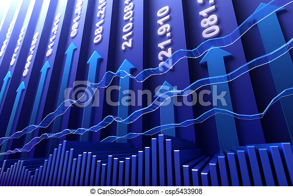 Stock market abstract background - csp5433908