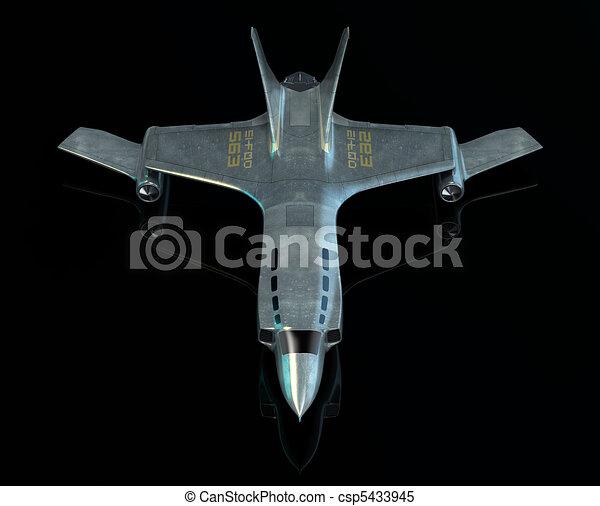 Combat spaceship. My own design - csp5433945