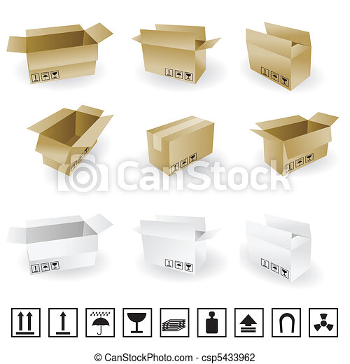 shipping box vector and Box Icons - csp5433962