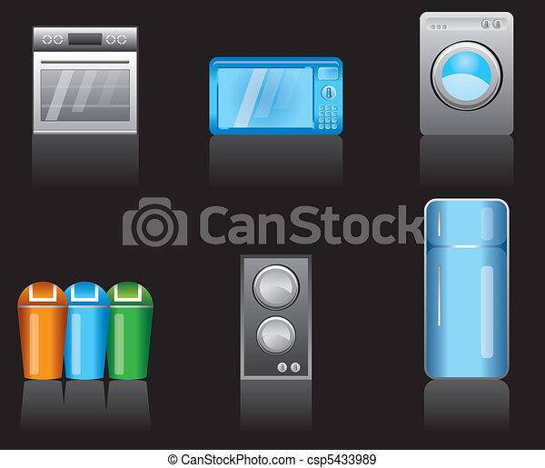 kitchen equipment icons - csp5433989