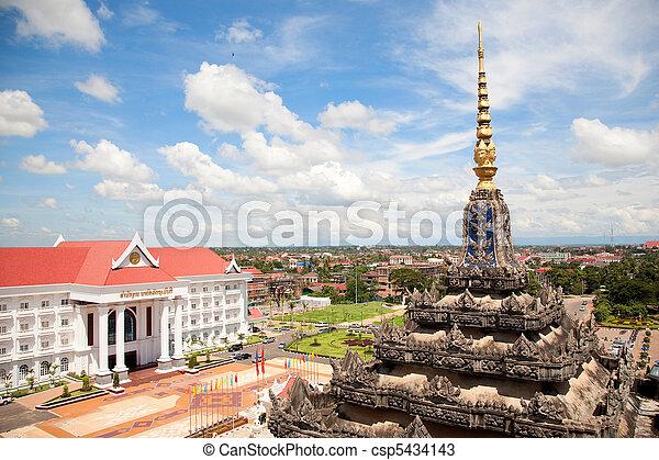 Vientiane, capital of Laos. - csp5434143