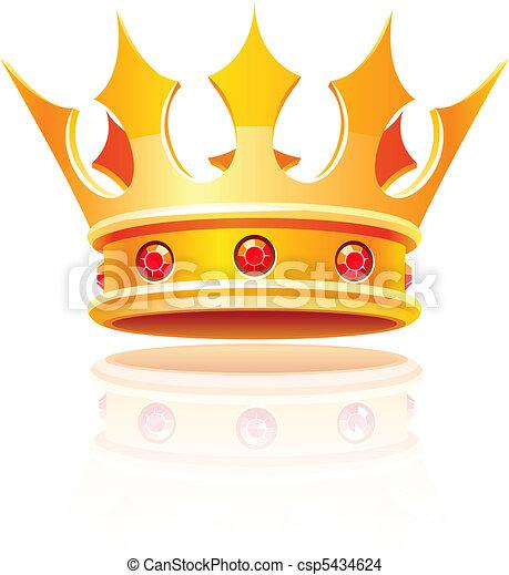 gold royal crown - csp5434624