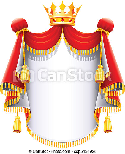 royal majestic mantle with gold crown - csp5434928