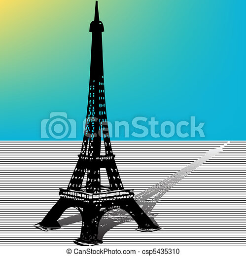 Eiffel Tower illustration - csp5435310