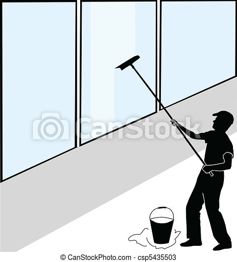 Large window washer - csp5435503