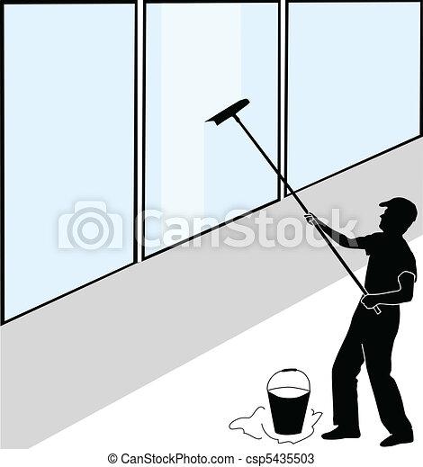 Large window washer - csp5435503