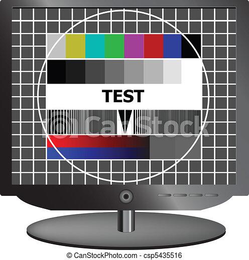 LCD TV test signal - csp5435516