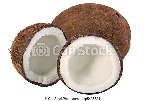 Coconut Still Life Isolated - csp5435634