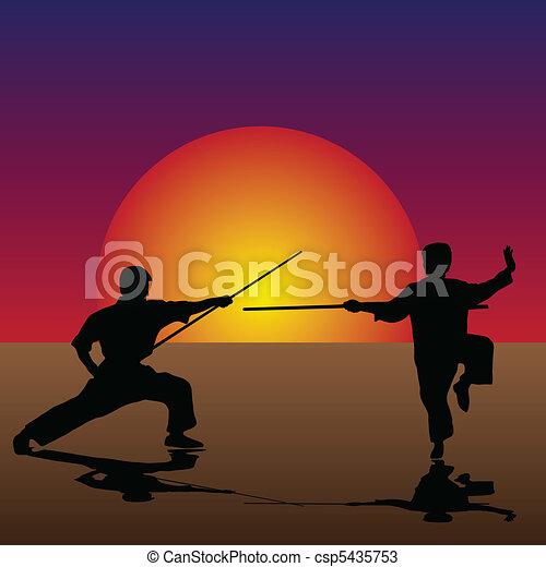 Martial Arts in the Twilight - csp5435753