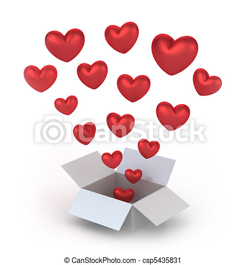 Valentine's Day gift box - csp5435831