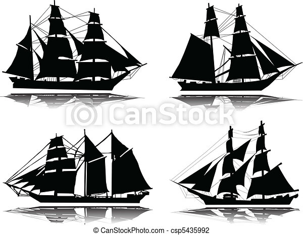 Old ship-vector - csp5435992