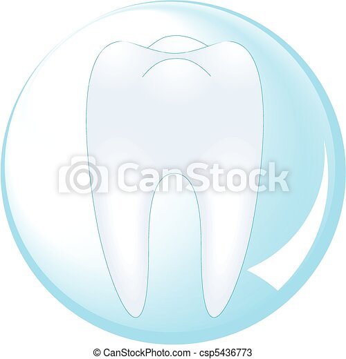 tooth is protected by a glass ball - csp5436773