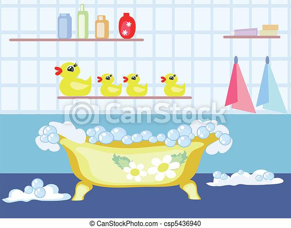 Vektor clipart von badezimmer csp5436940 suchen sie clip for Badezimmer clipart