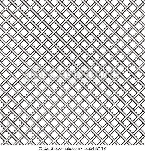 design with metallic realistic mesh - csp5437112