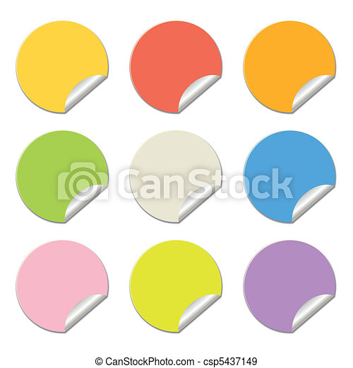 round colored stickers - csp5437149