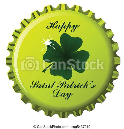happy saint patrick bottle cap - csp5437210