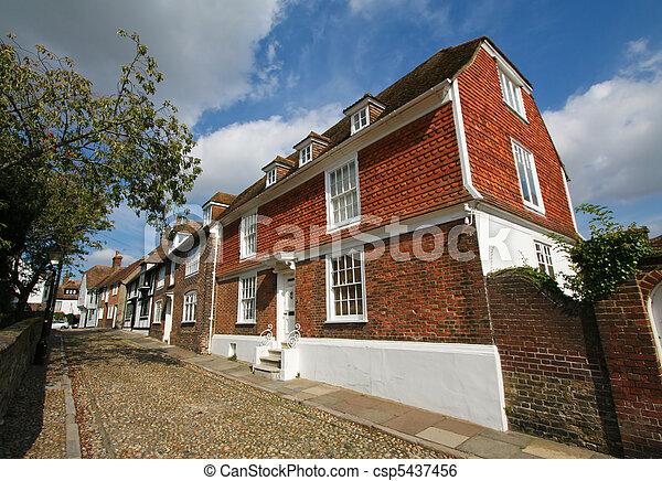Cobblestone street in Rye - csp5437456
