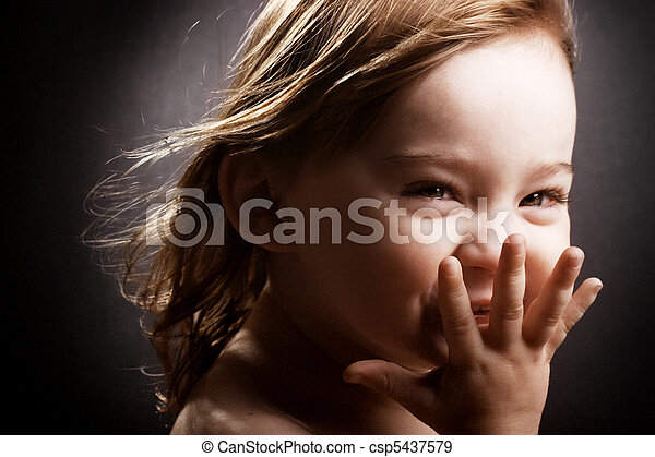 Giggling little girl - csp5437579