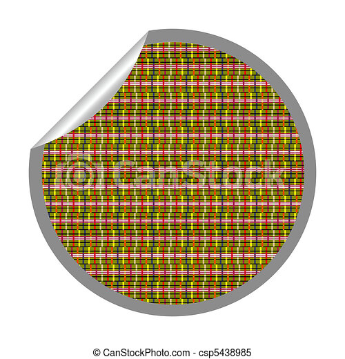 alternative stripes sticker isolated on white - csp5438985