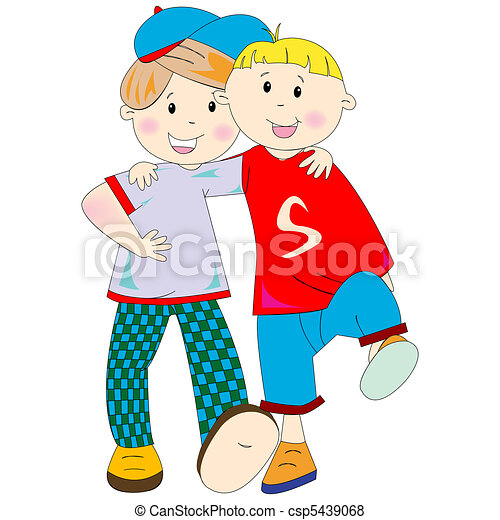 best friends cartoon - csp5439068