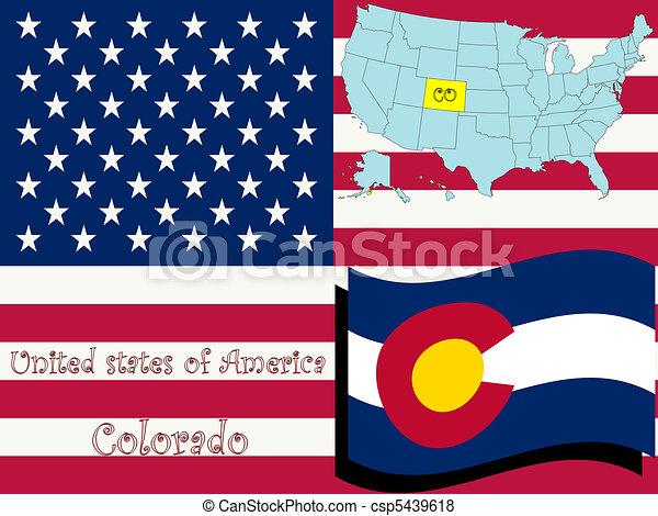 colorado state illustration - csp5439618
