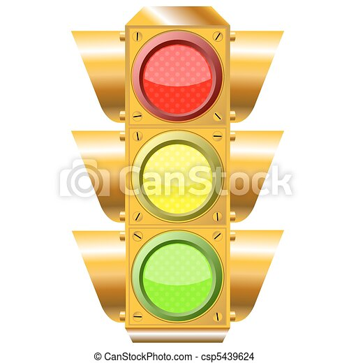 cross road traffic lights - csp5439624