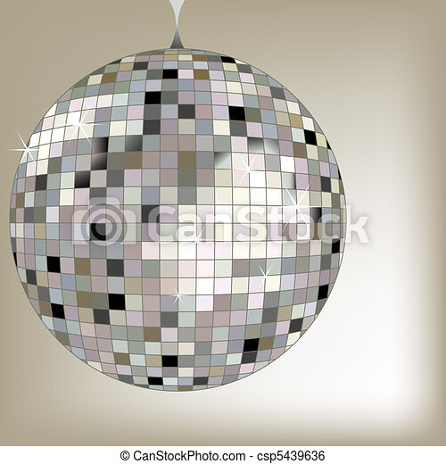 disco ball black - csp5439636
