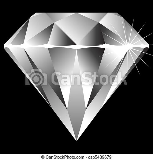 diamond isolated on black - csp5439679