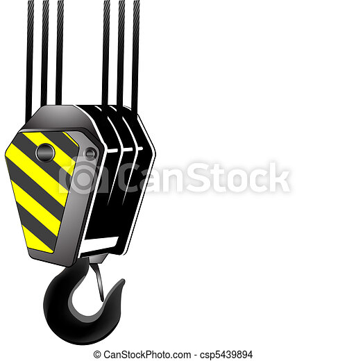 crane hook with room for text - csp5439894