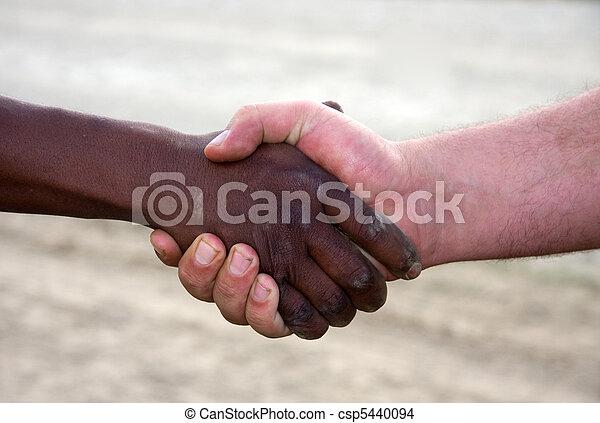 interracial handshake - csp5440094