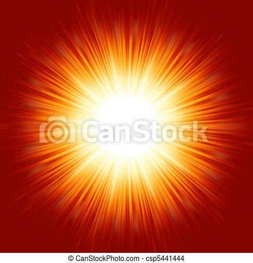 A bright exploding burst. EPS 8 - csp5441444
