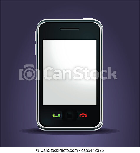 mobile phone lighted up - csp5442375