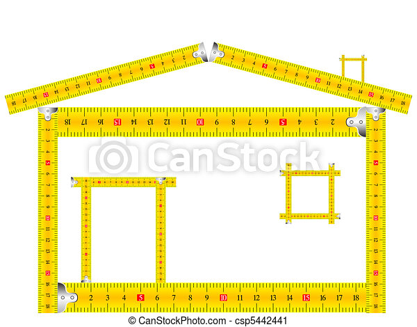 house made of measuring tape - csp5442441