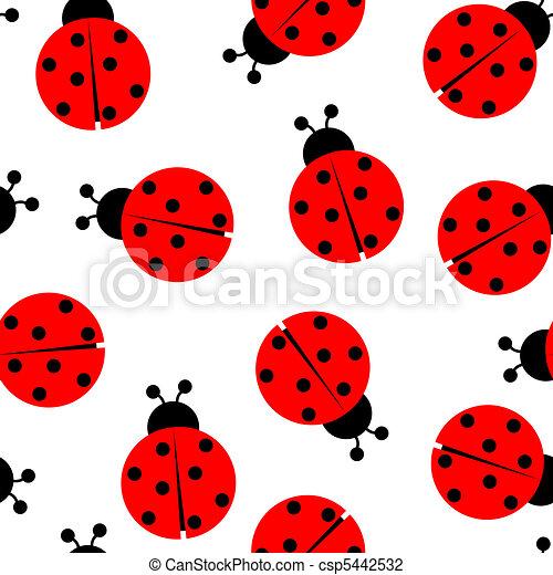 ladybug seamless pattern - csp5442532