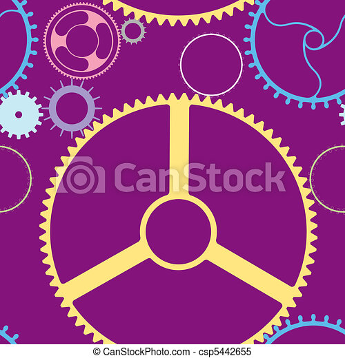 mechanic wheels seamless pattern - csp5442655