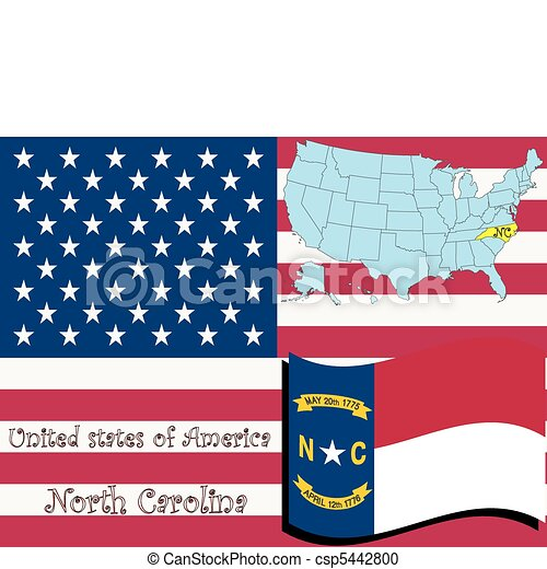 north carolina state illustration - csp5442800