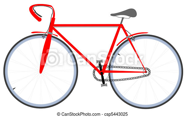 red bicycle - csp5443025