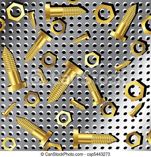 screws and nuts over metallic texture 2 - csp5443273