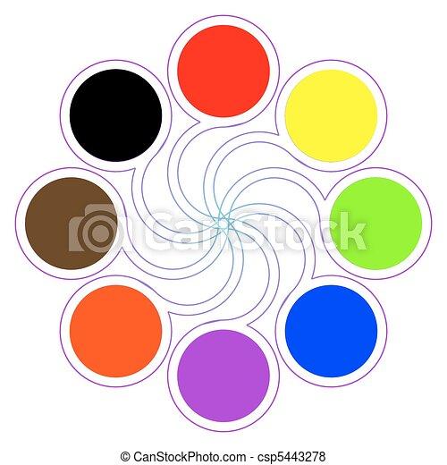 Vecteur de palette couleur couleurs huit fondamental - Palette a dessin ...