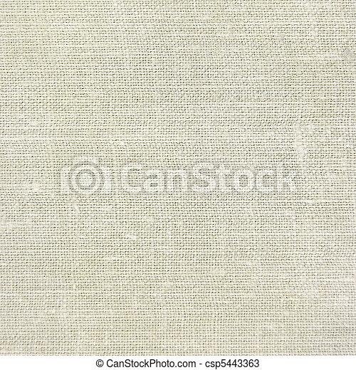 Natural vintage linen burlap texture background, tan, beige - csp5443363