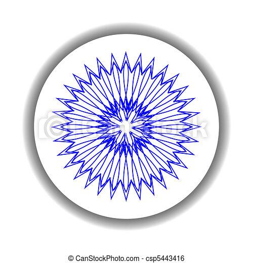 snow flake medallion 8 - csp5443416