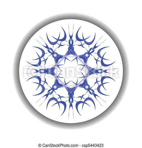 snow flake medallion - csp5443423
