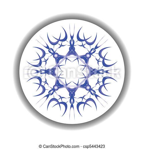 snow flake medallion - csp5443423