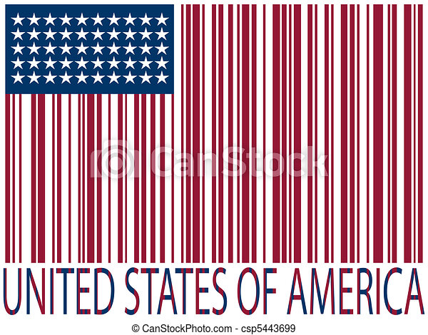 united states bar codes flag - csp5443699