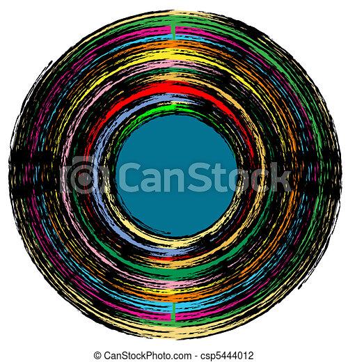 vintage vinyl record - csp5444012