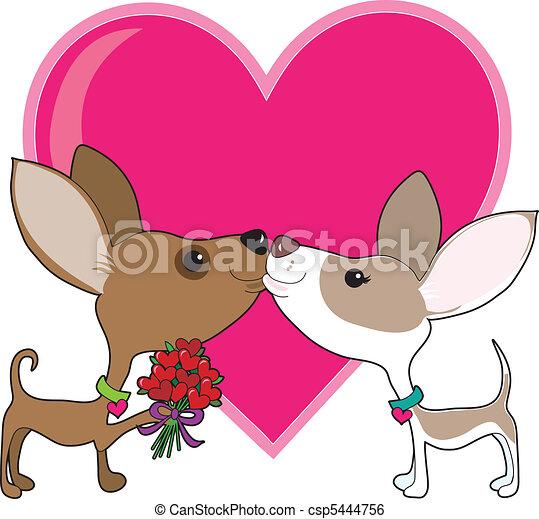 Clip art vecteur de chihuahua amour a chihuahua est - Clipart amour ...