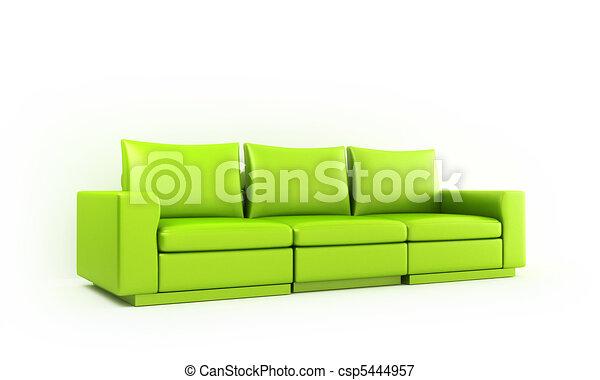 Green moder style sofa - csp5444957