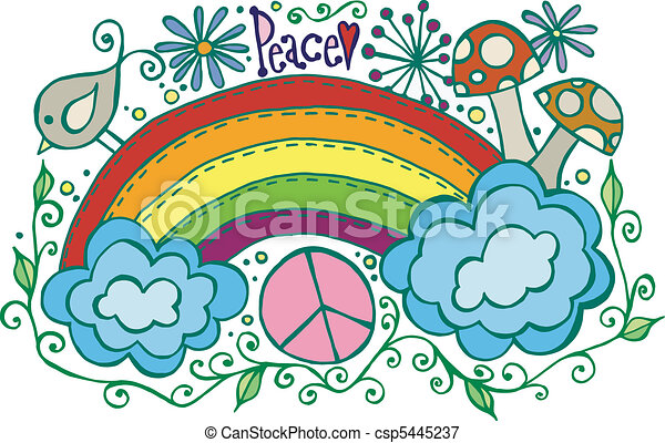 Rainbow Peace - csp5445237