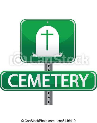 cemetery street sign - csp5446419