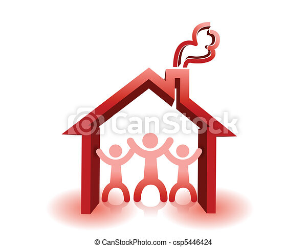 Protected under house roof - csp5446424